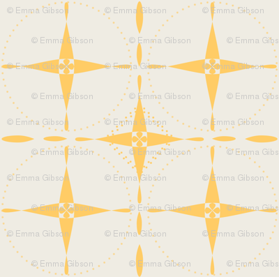 Yellow Grid on Cream