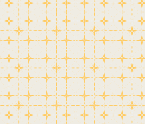 Yellow Grid on Cream fabric by emmyupholstery on Spoonflower - custom fabric