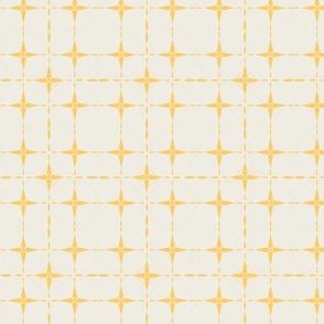 Yellow Grid on Cream