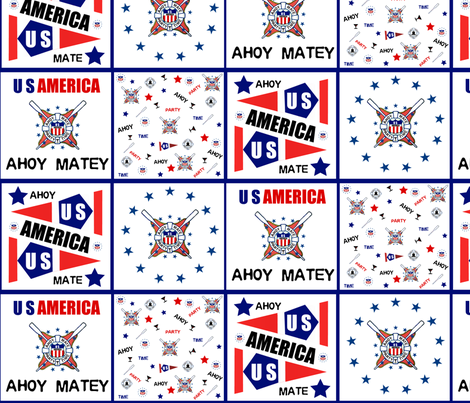 AHOY MATE FLAG USA fabric by paragonstudios on Spoonflower - custom fabric