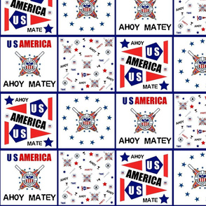 AHOY MATE FLAG USA