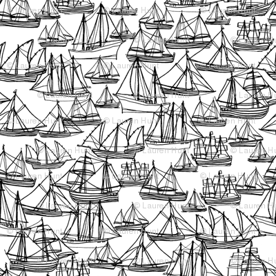 Sailing Ships - Black & White