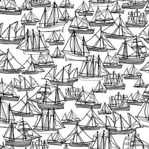 Sailing Ships - Black & White