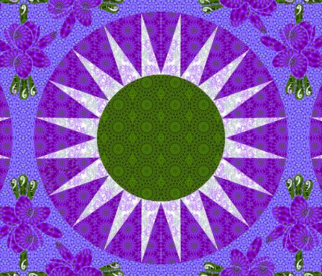 Mariners Compass Kaliedoscope fabric by cksstudio80 on Spoonflower - custom fabric