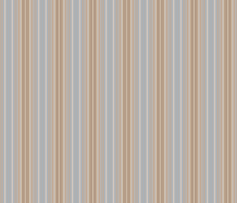 Ocean Villa Beach Stripe in Blues and Sand © 2010 Gingezel™ Inc. fabric by gingezel on Spoonflower - custom fabric