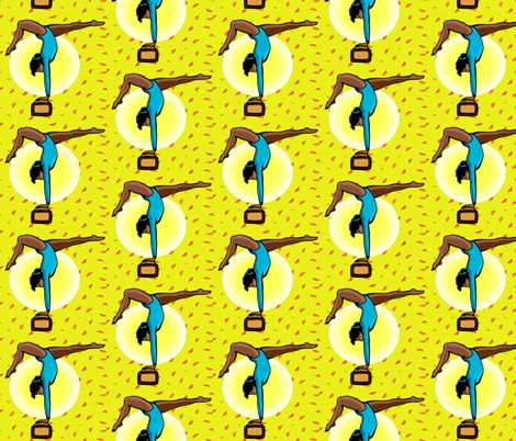 Gymnastic-Yellow-247 fabric by kkitwana on Spoonflower - custom fabric