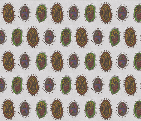 autumnbacteria_trio fabric by jkayep2 on Spoonflower - custom fabric