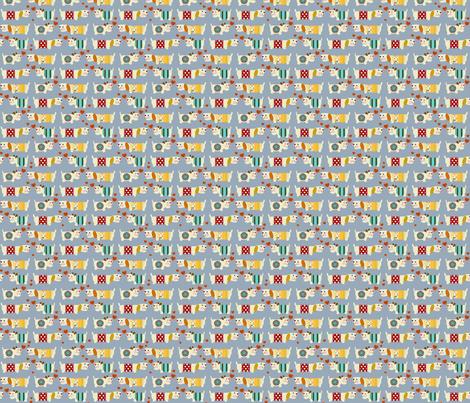 teeny woo woo woofers blue fabric by scrummy on Spoonflower - custom fabric