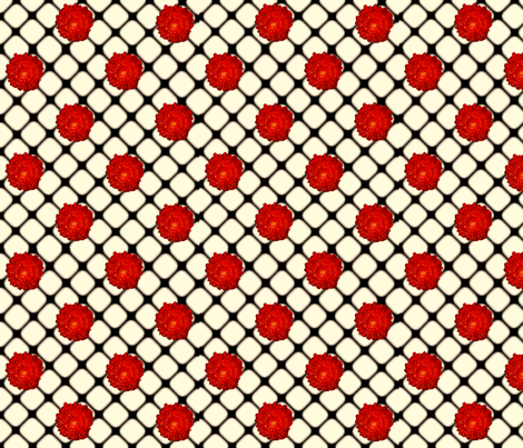 """Redbell"" Fishnet fabric by amyelyse on Spoonflower - custom fabric"