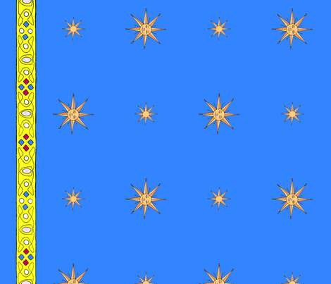 medieval_suns_with_coronet_border_ fabric by victorialasher on Spoonflower - custom fabric