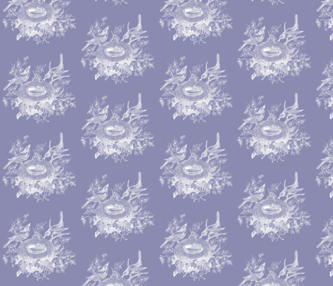 Vintage Birds Lavendar fabric by dolphinandcondor on Spoonflower - custom fabric