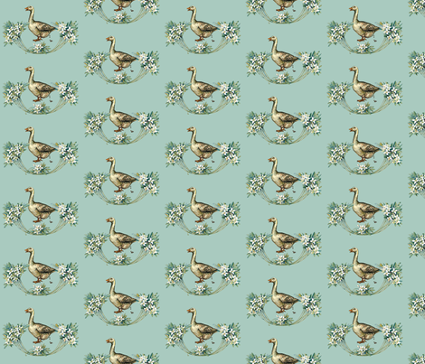 Poopy Goosey fabric by dolphinandcondor on Spoonflower - custom fabric