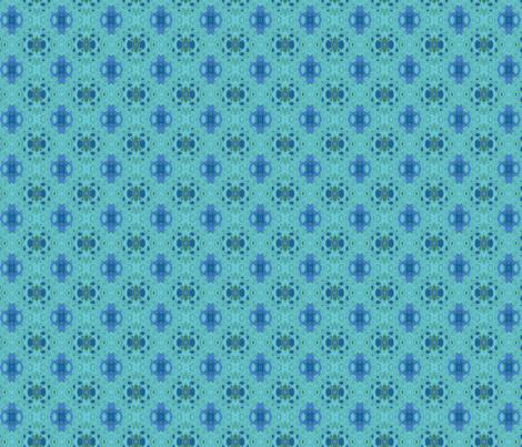 Ocean Villa Lagoon Print 1 large © 2010 Gingezel Inc. fabric by gingezel on Spoonflower - custom fabric