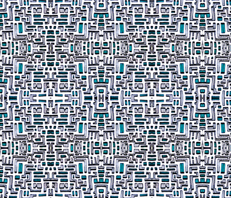 Bone Jade Maze fabric by patternbase on Spoonflower - custom fabric