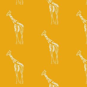 Giraffe Calligram