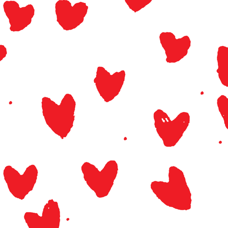 cestlaviv_red hearts  fabric by cest_la_viv on Spoonflower - custom fabric