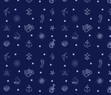 Nautical fabric by lesliecurd on Spoonflower - custom fabric