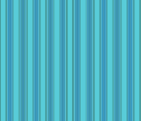 Ocean Villa Lagoon Stripe © 2010 Gingezel Inc. fabric by gingezel on Spoonflower - custom fabric