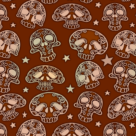 Small Skulls Lighter fabric by jadegordon on Spoonflower - custom fabric