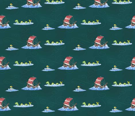 A Viking Fantasy at Sea fabric by lulakiti on Spoonflower - custom fabric