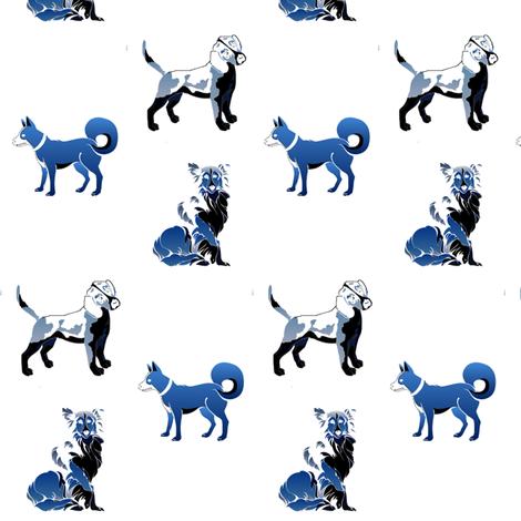 blue_dogs_2-ed fabric by maga2mars on Spoonflower - custom fabric