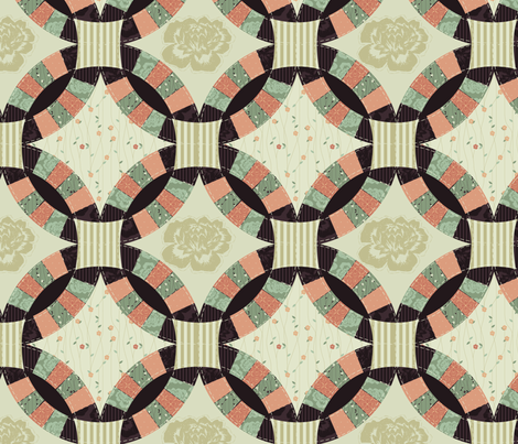 Cheater_Quilt_-_Wedding_Ring_-_AL fabric by natalie on Spoonflower - custom fabric
