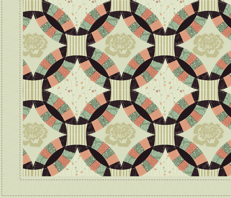 Cheater Quilt Amanda Lynne Wedding Ring fabric by natalie on Spoonflower - custom fabric