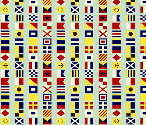 Nautical Flags fabric by lellobird on Spoonflower - custom fabric