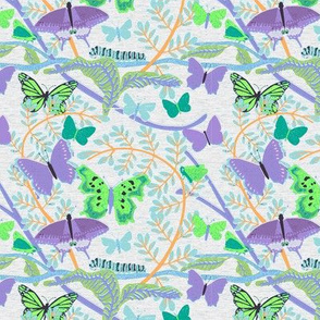 Purple Green Butterflies