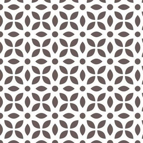 Grey-brown On White Jaali