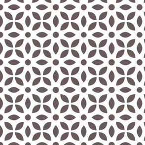 Grey-brown On White Jaali