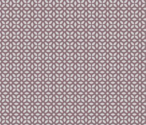 Grey On Mauve Jaali fabric by emmyupholstery on Spoonflower - custom fabric