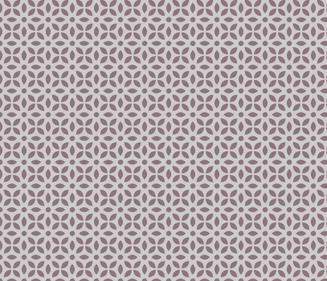 Mauve On Grey Jaali fabric by emmyupholstery on Spoonflower - custom fabric