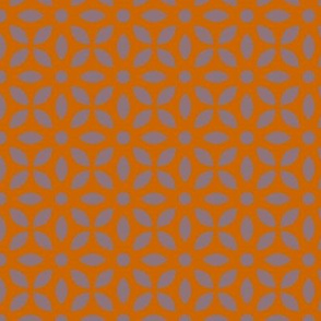 Mauve On Orange Jaali