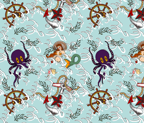 Ship Wreck fabric by thirdhalfstudios on Spoonflower - custom fabric