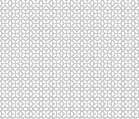 White On Grey Jaali fabric by emmyupholstery on Spoonflower - custom fabric