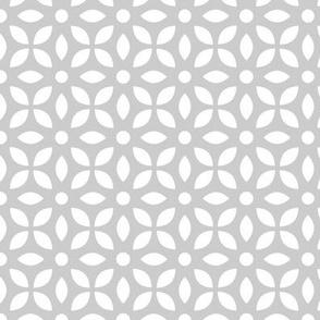 White On Grey Jaali