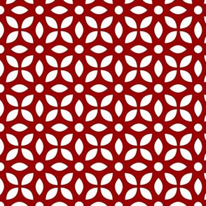 White On Red Jaali