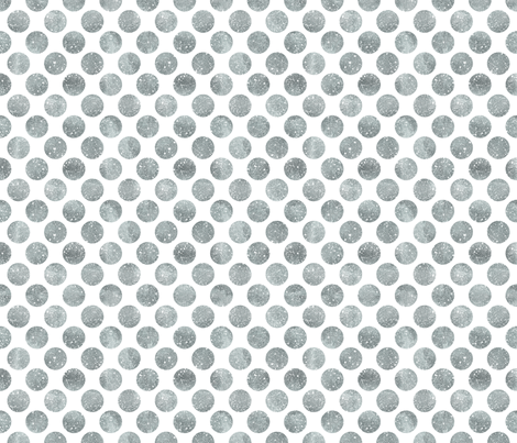 Glitter Dots Silver fabric by cynthiafrenette on Spoonflower - custom fabric