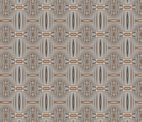 Ocean Villa Pool Geometric © 2010 Gingezel™ Inc. fabric by gingezel on Spoonflower - custom fabric