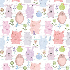 Cute Critters Pastels