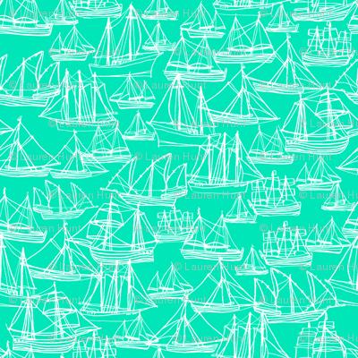 Sailing Ships - Seafoam