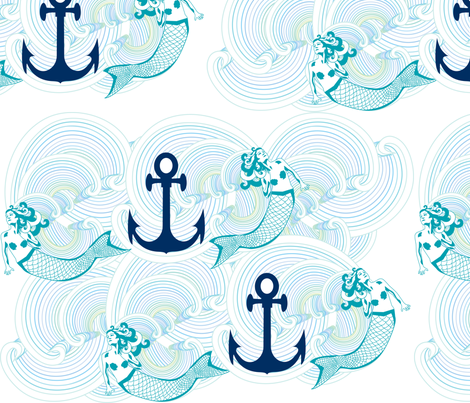 Traveling_the_Seven_Seas fabric by saucy_otter on Spoonflower - custom fabric