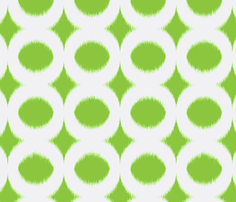 grass circle ikat fabric by domesticate on Spoonflower - custom fabric