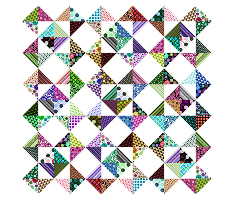 "Monster Cheater Quilt - 36""x36"" fabric by jesseesuem on Spoonflower - custom fabric"