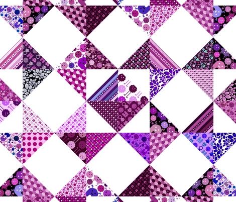 """Monster Cheater Quilt - 36""""x36"""" - Purples and Pinks fabric by jesseesuem on Spoonflower - custom fabric"""