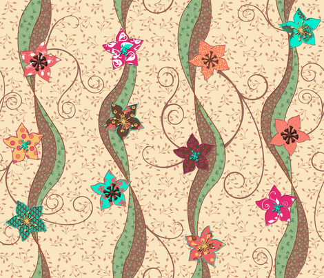 Pressed Flowers fabric by shirlene on Spoonflower - custom fabric