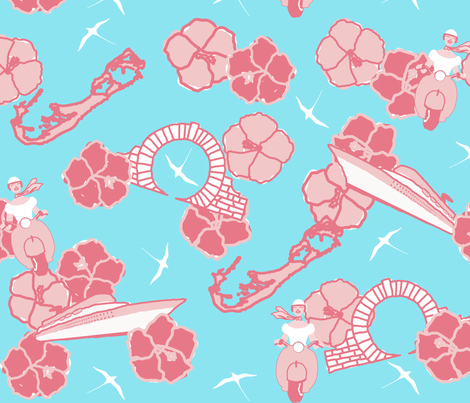 Bermuda Summer fabric by eclectic_mermaid on Spoonflower - custom fabric