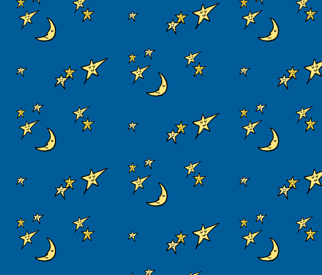 Sleepy Skies  fabric by mandyd on Spoonflower - custom fabric