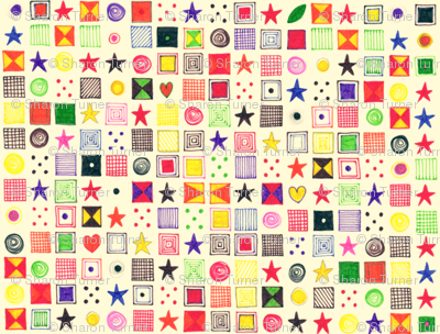 teenie baby star mosaic